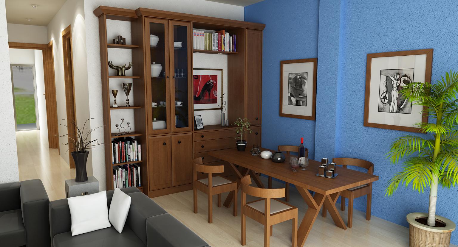 3d living room javilop for Architect studio 3d online room design